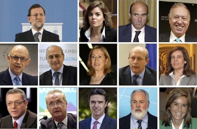 La cara oculta de los ministros del partido popular for Ministros de espana