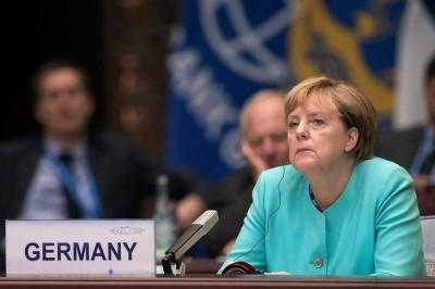 La canciller alemana, Angela Merkel, en la ceremonia de apertura de la cumbre del G-20 en Hangzhou, China, el 4 de septiembre de 2016. Los demócrata cristianos conservadores (CDU) de Merkel obtuvieron el tercer lugar en una elección estatal el domingo detrás de los social demócratas (SPD) de centroizquierda y del partido antiinmigrante Alternativa para Alemania (AfD), según proyecciones de canales de televisión. REUTERS/Nicolas Asfonri/Pool