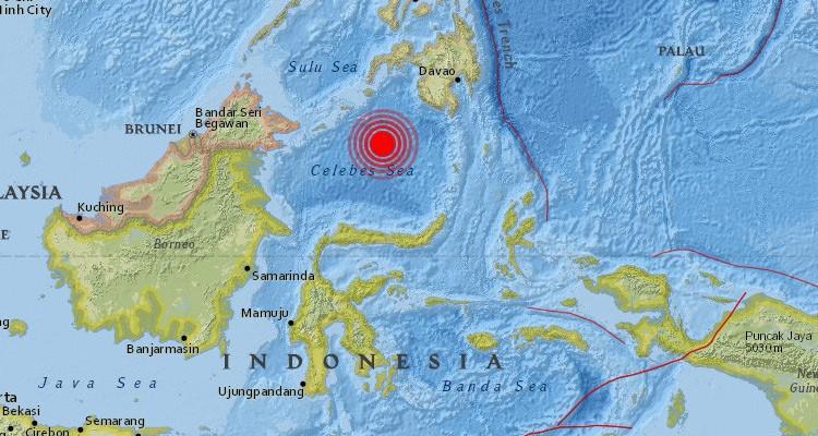 TERREMOTO 7,3 GRADOS EN EL MAR DE CELEBES, ENTRE INDONESIA Y FILIPINAS