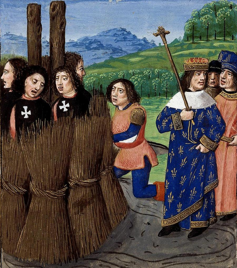 Felipe IV de Francia y los Templarios que acabaron en la hoguera