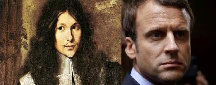 Los grandes banqueros del momento en su tiempo cada uno Nicholas Fouquet y Emmanuele Macron