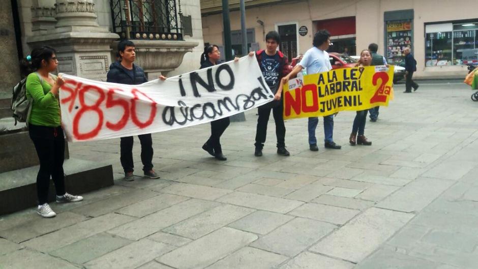 no a la ley laboral juvenil