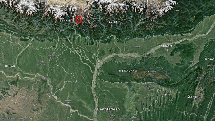 mapa disputa china india