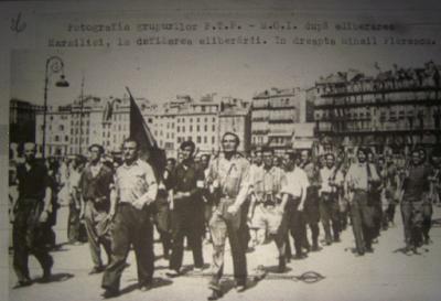 Con republicanos españoles en la Resistencia Francesa