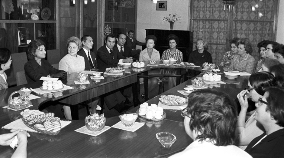 Ashraf Pahlaví, la princesa de Irán durante su visita en la URSS
